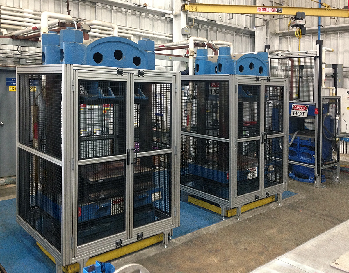 Machine Guards Made From T Slot Aluminum Extrusion Tsi